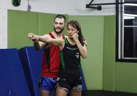 Germain trains Muay Thai at Monarchy MMA